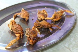 Fried Baby Crabs in Hong Kong. 2010.