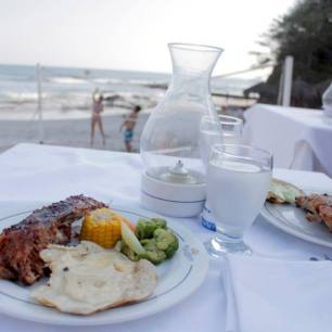 Beachside Dinner. Puerto Vallarta 2013.