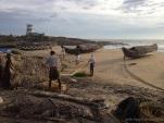Fishermen Returning Near Sunset
