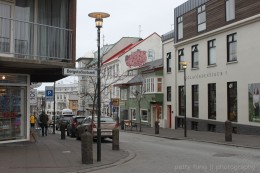 Walking around downtown Reykjavik